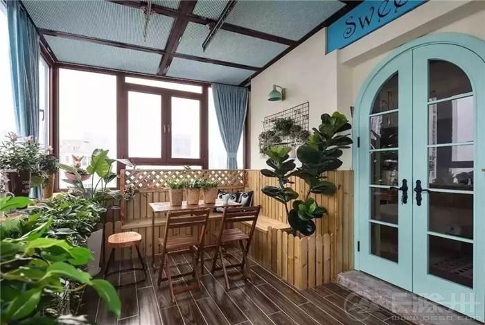 【久米设计】◤要晾衣服又要休闲的阳台,您可以这样做